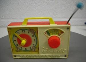 107-fisher-price-muziek-klok-radio-voor
